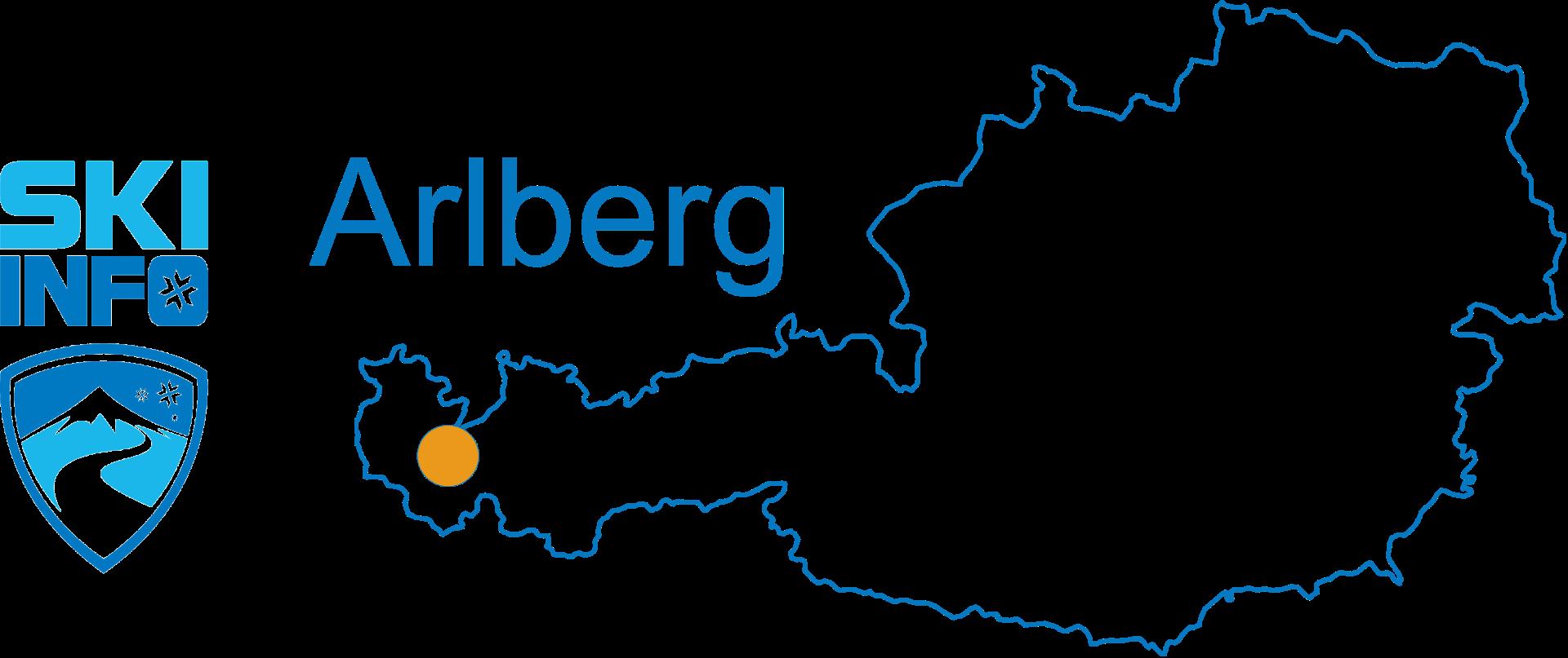 Karte Arlberg