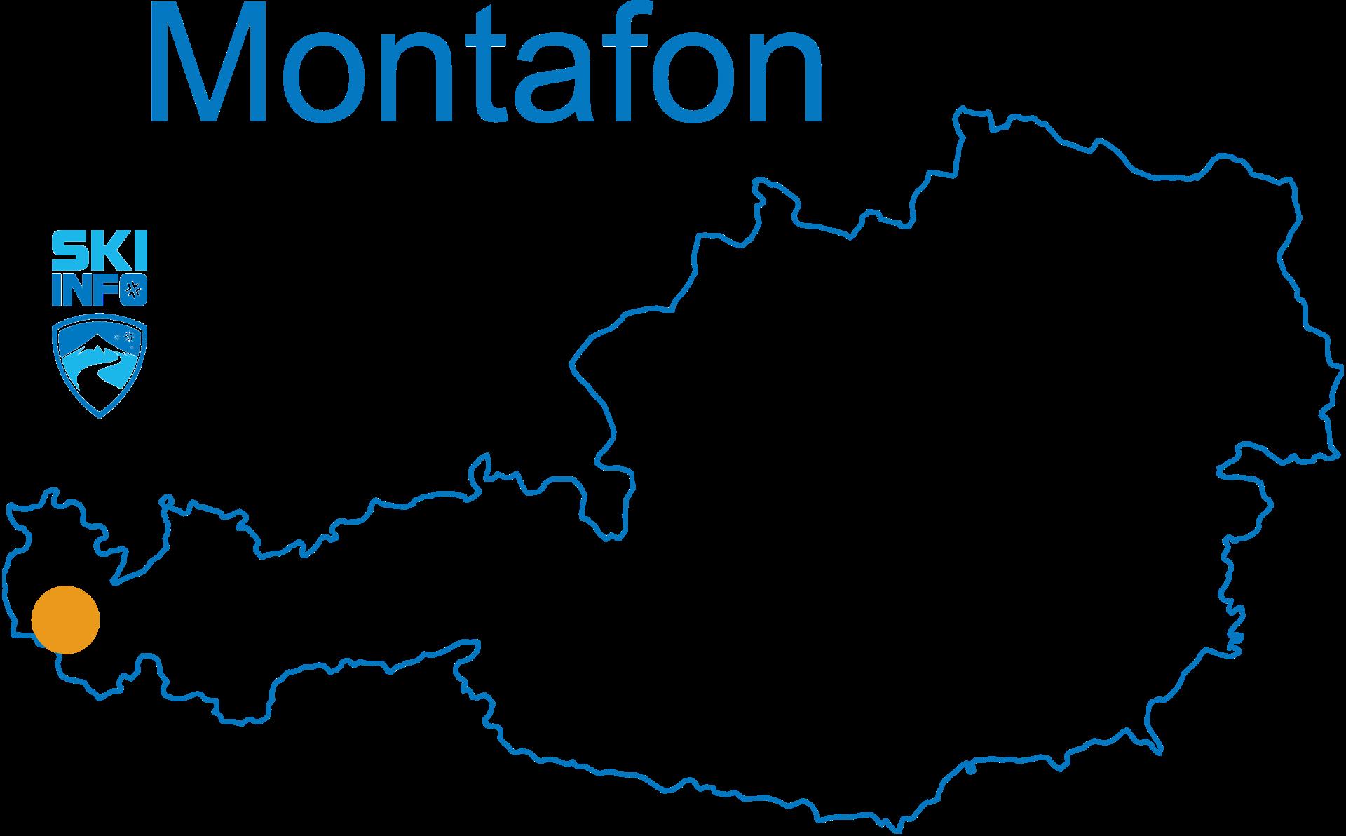 Karte Montafon