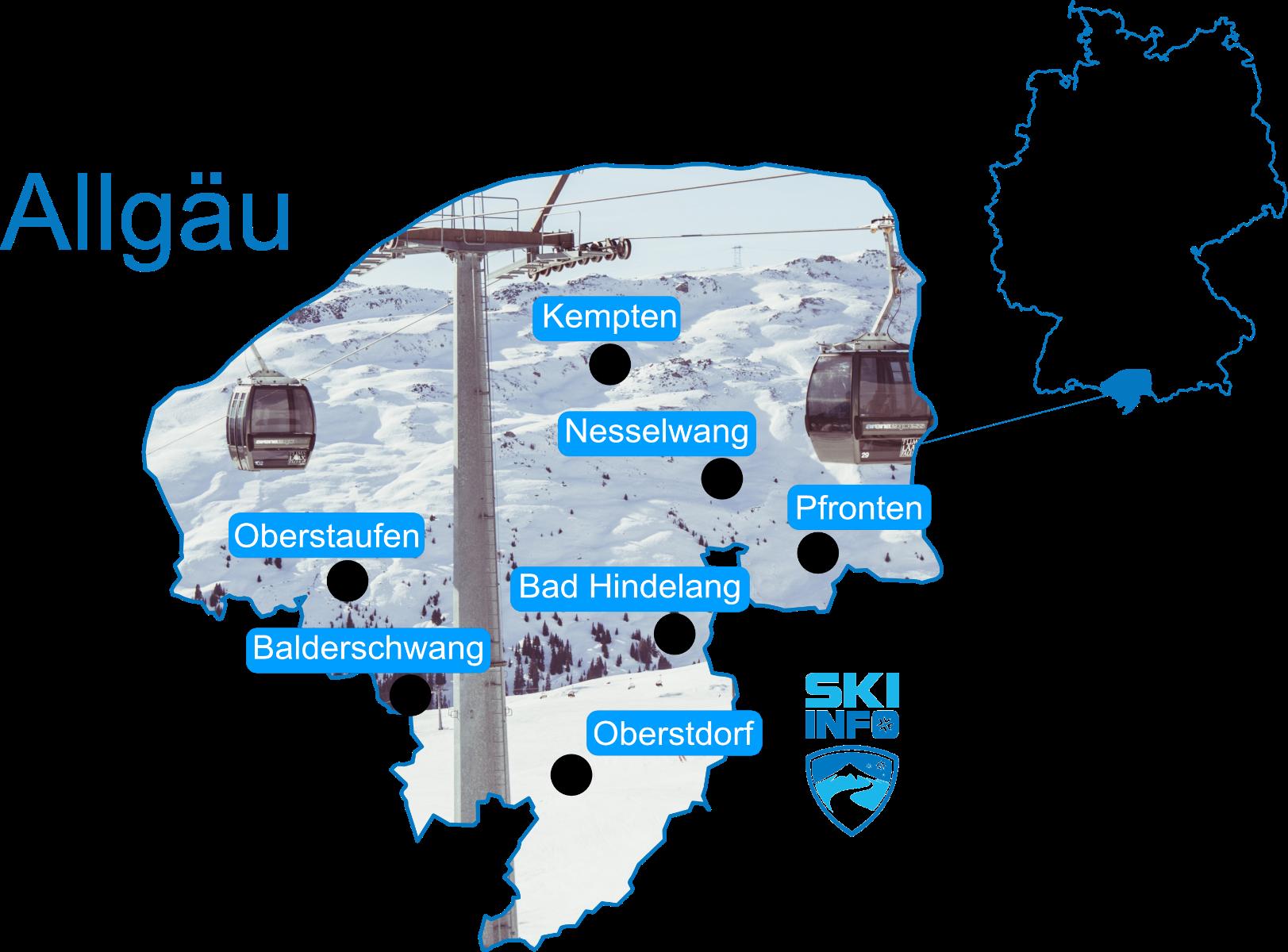 Karte Allgäu