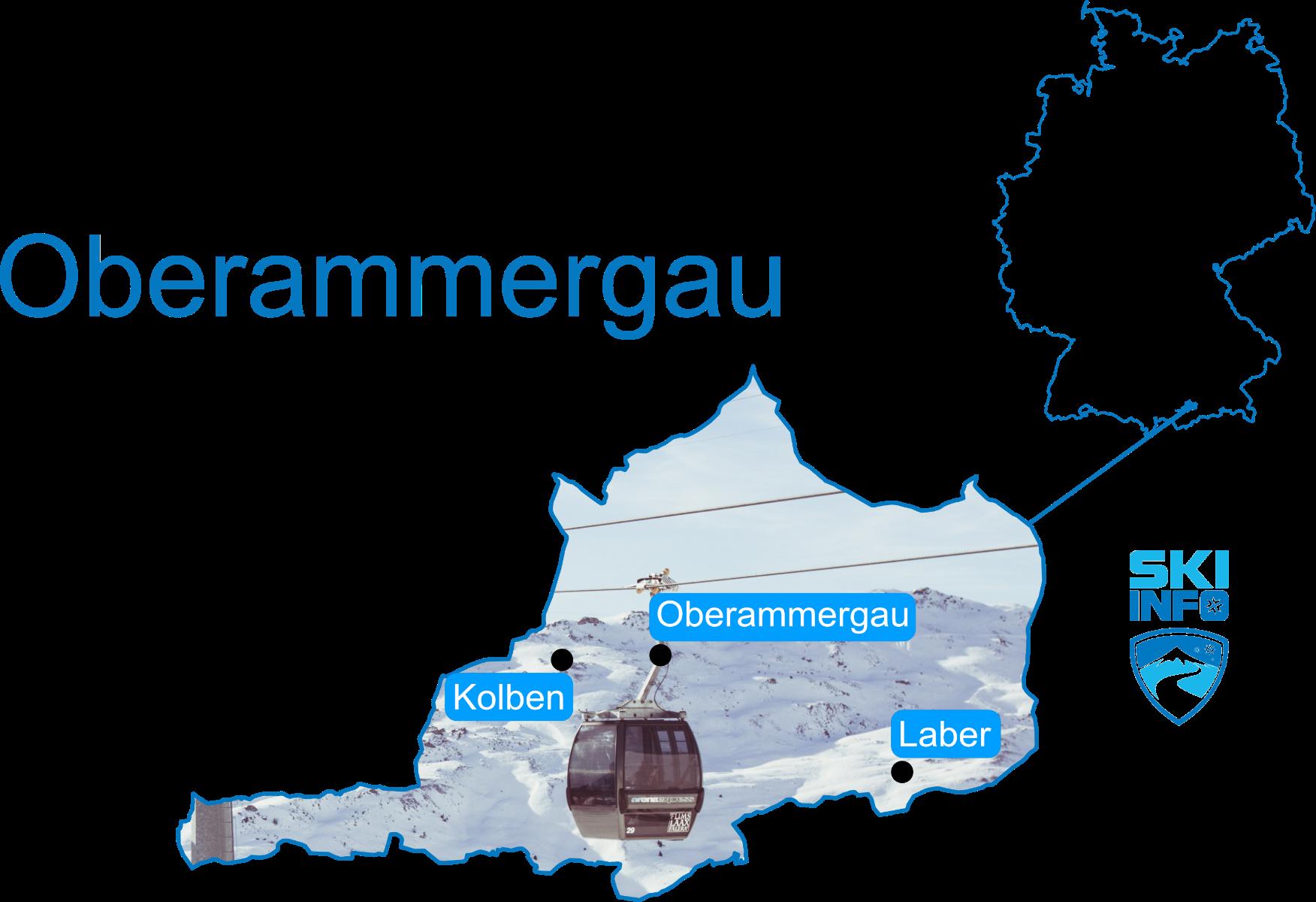 Karte Oberammergau